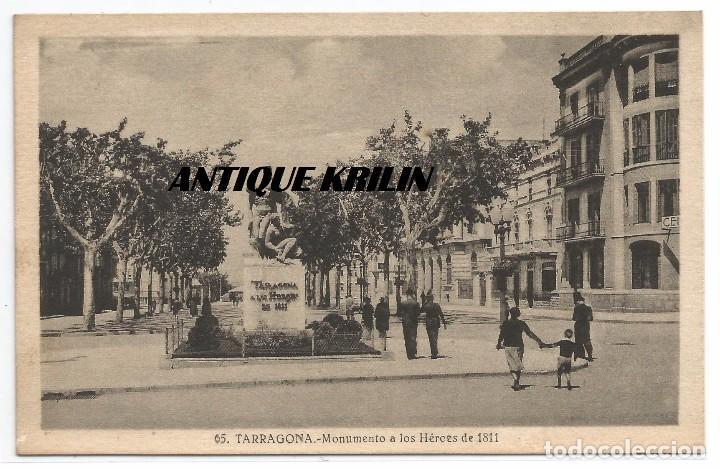TARRAGONA Nº 65 .- MONUMENTO HEROES 1811 .- FOTO L. ROISIN .-SUC. R. GABRIEL GIBERT (Postales - España - Cataluña Moderna (desde 1940))