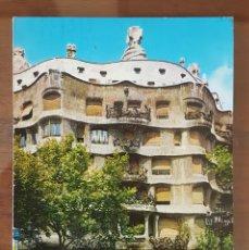 Postales: POSTAL BARCELONA. N° 329. LA PEDRERA. GAUDÍ. CIRCULADA A LAS PALMAS DE GRAN CANARIA 1971. Lote 105585855