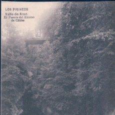 Cartoline: POSTAL DE VALLE DE ARAN, EL PUENTE DEL ABISMO DE CLEDES - CIRCULADA - DUCHE. Lote 105612515