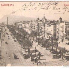 Postales: BARCELONA, PASEO DE COLON, MADRIGUERA, SIN CIRCULAR. Lote 105679775