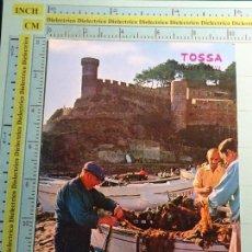 Postais: POSTAL DE GERONA. AÑO 1974. TOSSA DE MAR, PESCADORES. 1363. Lote 105857987