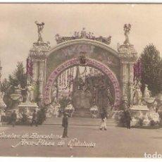 Postales: BARCELONA, FIESTAS DE BARCELONA 1910, ARCO EN PLAZA ESPAÑA, VERDADERA FOTOGRAFO BELTRÁN, MAGDA, S/C . Lote 106018587