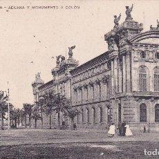 Postales: BARCELONA ADUANA Y MONUMENTO A COLÓN (CIRCULADA) . Lote 106750971