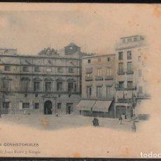 Postales: POSTAL REUS -CASAS CONSISTORIAÑES SUC. JUAN FERRÉ NUM. 1 SIN CIRCULAR-DORSO PUBLIC.LA FLECA . Lote 106814371