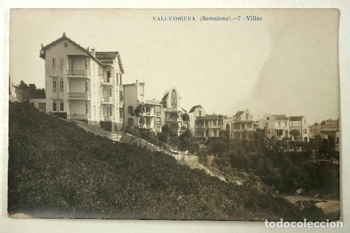 VALLVIDRERA, 7. (BARCELONA) VILLAS. POSTAL FOTOGRÁFICA (Postales - España - Cataluña Antigua (hasta 1939))