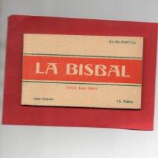 Postales: LA BISBAL. BLOC DE 15 POSTALES COMPLETO. CASAS FOTÓGRAFO. Lote 107279355