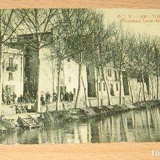Postales: TORTOSA (TARRAGONA) - ROQUETAS - CANAL DEL EBRO - REPRODUCCION. Lote 107279971