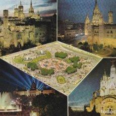Postales: BARCELONA VISTAS VARIAS POSTAL CIRCULADA . Lote 107589011