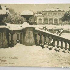 Postales: 6 - BARCELONA, NEVADA. EL PARQUE, ROISIN FOTO. POSTAL FOTOGRÁFICA. Lote 107635755