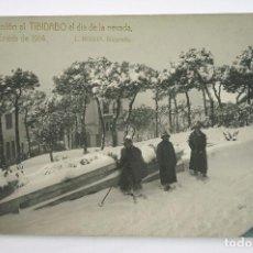 Postales: 10- BARCELONA, EXCURSIÓN AL TIBIDABO, NEVADA 1914, ROISIN FOTO. POSTAL FOTOGRÁFICA. Lote 107636743