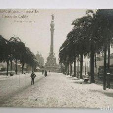 Postcards - BARCELONA, PASEO COLÓN, NEVADA DE 1914. ROISIN FOT. POSTAL FOTOGRÁFICA - 107637063
