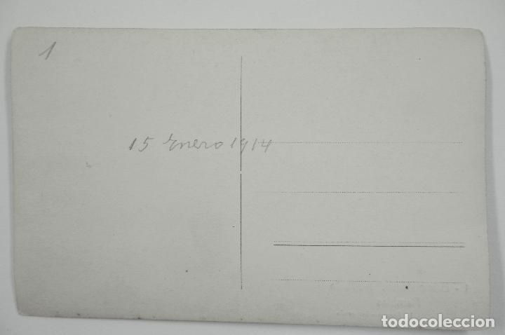 Postales: 1- BARCELONA, LA RAMBLA, NEVADA DE 1914. ROISIN FOT. POSTAL FOTOGRÁFICA - Foto 2 - 107637287