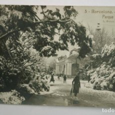 Postales: 5- BARCELONA, NEVADA. PARQUE, ROISIN FOTO. POSTAL FOTOGRÁFICA. Lote 107637467