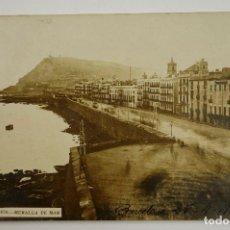 Postales: BARCELONA, 1870. MURALLA DE MAR. POSTAL FOTOGRÁFICA. Lote 107637927
