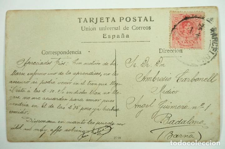 Postales: BARCELONA, 1870. MURALLA DE MAR. POSTAL FOTOGRÁFICA - Foto 2 - 107637927