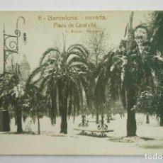 Postales: 11- BARCELONA, PLAZA CATALUÑA, NEVADA DE 1914. ROISIN FOT. POSTAL FOTOGRÁFICA. Lote 107638243