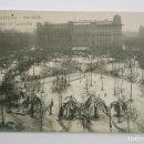 Postales: BARCELONA, PLAZA CATALUÑA NEVADA DE 1914. ROISIN FOT. POSTAL FOTOGRÁFICA. Lote 107641147