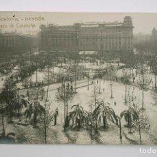 Postcards - BARCELONA, PLAZA CATALUÑA NEVADA DE 1914. ROISIN FOT. POSTAL FOTOGRÁFICA - 107641147