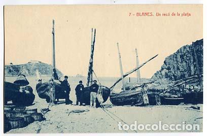 GIRONA BLANES UN RECÓ DE LA PLATJA. FOTOTIPIA THOMAS. SIN CIRCULAR (Postales - España - Cataluña Antigua (hasta 1939))