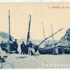 Postales: GIRONA BLANES UN RECÓ DE LA PLATJA. FOTOTIPIA THOMAS. SIN CIRCULAR. Lote 108117379