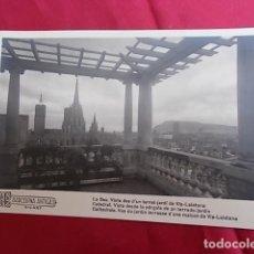 Postales: TARJETA POSTAL. 76. CATEDRAL. VISTA DESDE LA PÉRGOLA DE UN TERRADO-JARDIN. BARCELONA ANTIGA. RICART. Lote 108341343