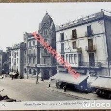 Postales: MANRESA- 27- PLAZA SANTO DOMINGO Y AVENIDA DEL CAUDILLO -GAMISANS. Lote 108868191