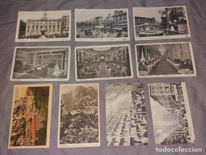 Postales: Postales. Barcelona, lote de 34 diferentes. Modernas, Museo de cera, Hotel Ritz, Expo 1919 - Foto 2 - 109211759