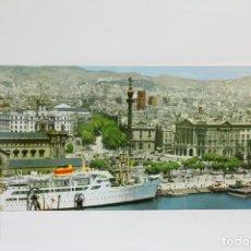 Postales: POSTAL PANORÁMICA EN COLOR - BARCELONA, VISTA PARCIAL DESDE EL MAR - EXPO FILATÉLICA BARNAFIL 1979. Lote 109364276
