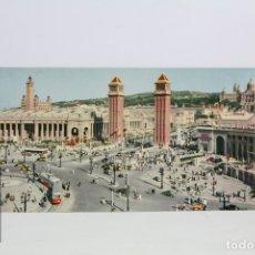 Postales: POSTAL PANORÁMICA EN COLOR -BARCELONA, EXPOSICIÓN Y PALACIO NACIONAL -EXPO FILATELICA BARNAFIL 1979. Lote 109364290