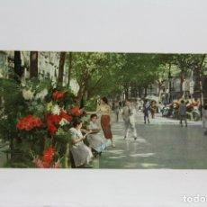 Postales: POSTAL PANORÁMICA EN COLOR - BARCELONA, RAMBLA DE LAS FLORES - EXPO FILATELICA BARNAFIL 1979. Lote 109364447