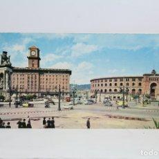 Postales: POSTAL PANORÁMICA EN COLOR- BARCELONA, PLAZA ESPAÑA, PLAZA LAS ARENAS-EXPO FILATELICA BARNAFIL 1979. Lote 109364474
