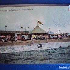 Postales: (PS-54457)POSTAL DE BARCELONA-BAÑOS DE MAR SAN SEBASTIAN.COPA SAN SEBASTIAN INVITACION. Lote 109368995