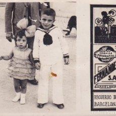 Postais: RECUERDO DE BARCELONA FERNÁNDEZ S.A. 7X8CTMS. FOTO PEQUEÑA.. Lote 109469995