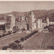 Postales: 1 MONASTERIO DE POBLET TARRAGONA (SIN CIRCULAR) . Lote 109472263