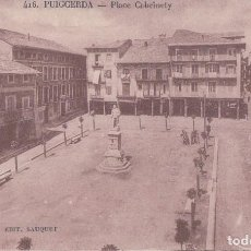Postales: POSTAL PUIGCERDA - PLACE CABRINETY 416 - SAUQUET . Lote 109529255