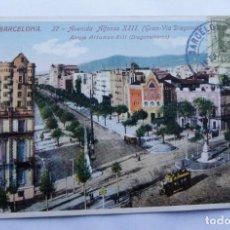 Postales: POSTAL BARCELONA - AVENIDA DE ALFONSO XIII - ED. JORGE VENINI - CON SELLO NO CIRCULADA. Lote 109840791