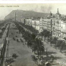Postales: (PS-54729)POSTAL FOTOGRAFICA DE BARCELONA-PASEO COLON. Lote 110005179