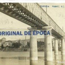Postales: (PS-54689)POSTAL FOTOGRAFICA DE TORTOSA-PUENTE DEL F.C.. Lote 110009327