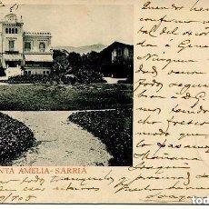 Postales: BARCELONA- QUINTA AMELIA -SARRIA.-1905- MUY RARA. Lote 110210471