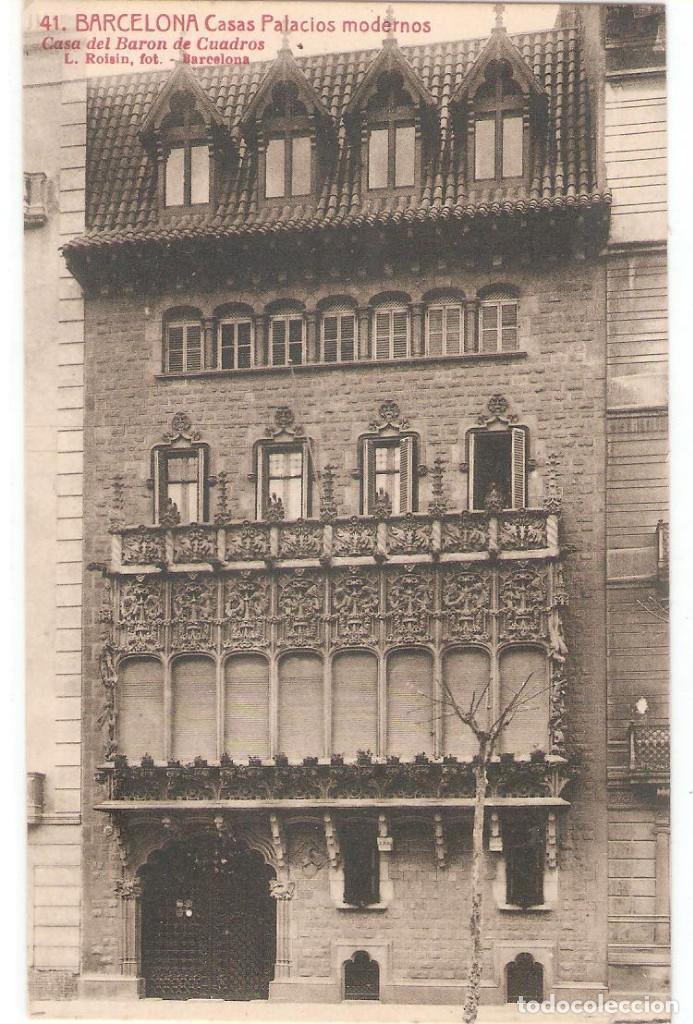 barcelona, casas y palacios modernos, casa del - Comprar Postales ...