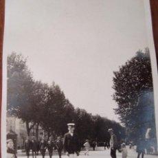 Postales: POSTAL FOTOGRÁFICA. BARCELONA. PROMENADE. SPAIN. 1930. DIVIDIDA. NO CIRCULADA.. Lote 110802407
