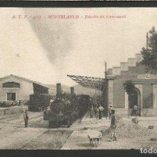 Postales: MONTBLANCH - ATV. 4137 -ESTACION - FERROCARRIL-TREN-POSTAL ANTIGUA-VER REVERSO-(51.715). Lote 110921631
