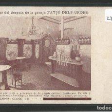 Postales: BARCELONA - GRANJA FATJÓ DELS URONS - LLETS VINS BOTIFARRAS PERNILS I LLONGANISSES - P23436. Lote 111590279