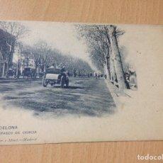 Postales: ANTIGUA POSTAL BARCELONA PASEO DE GRACIA 250 HAUSER Y MENET ESCRITA 1909. Lote 111614615