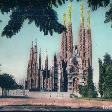 Postales: POSTAL BARCELONA 555 - TEMPLO EXP DE LA SAGRADA FAMILIA - ZERKOWITZ - COLOREADA. Lote 111788255