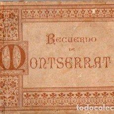 Postales: BLOC ACORDEÓN DE 20 VISTAS DE MONTSERRAT (C. 1900). Lote 111934359