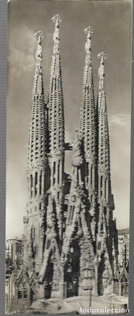 BARCELONA - 24 - SAGRADA FAMILIA - TARJETA SUPERPANORAMICA - ZERKOWITZ - NO CIRCULADA (Postales - España - Cataluña Moderna (desde 1940))