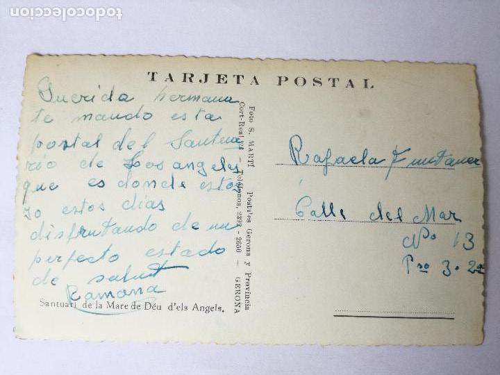 Postales: GIRONA SANTUARI MARE DE DEU D'ELS ANGELS FOTO S. MARTI. ANTIGUA POSTAL FOTOGRÁFICA COLOR, - Foto 2 - 112377491