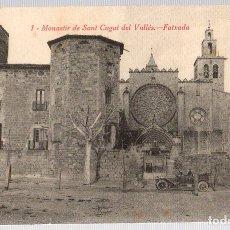 Postales: TARJETA POSTAL MONASTIR DE SANT CUGAT DEL VALLÉS. FATXADA. Nº 1. L. ROISIN. Lote 112514784