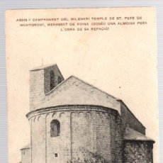 Postales: TARJETA POSTAL GIRONA. ABSIS Y CAMPANARET DEL MILENARI TEMPLE DE ST. PERE DE MONTGRONY. Lote 112518950